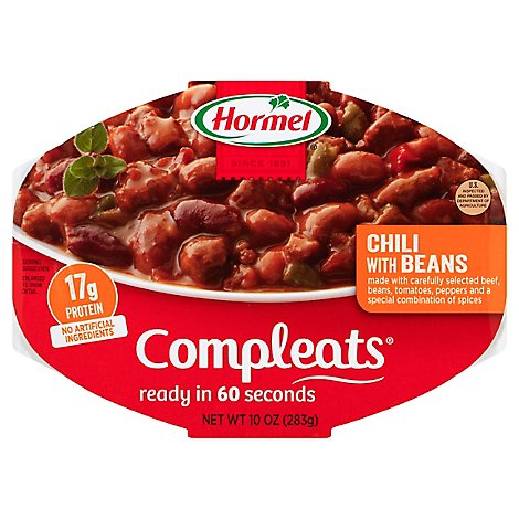 Hormel Compleats Microwave Meals Homestyle Chili with Beans - 10 Oz