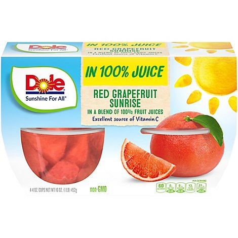 Dole Red Grapefruit Sunrise Cups - 4-4 Oz