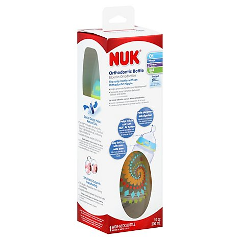 Nuk Bottle Trendline Orthodontic Silicone 0 Months Plus - Each