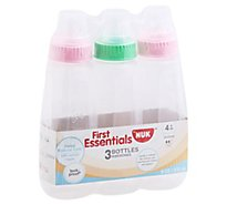 NUK First Essentials Bottles Leak Proof 4 Months Plus - 9 Oz