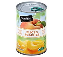 Signature SELECT Peaches Yellow Cling in Extra Light Syrup Sliced - 15 Oz