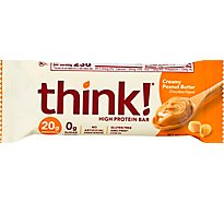 thinkThin High Protein Bar Creamy Peanut Butter Chocolate Dipped - 2.1 Oz
