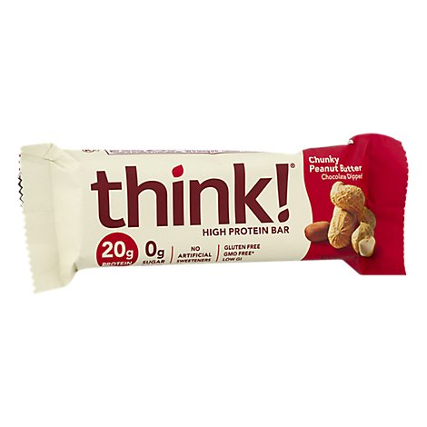 thinkThin High Protein Bar Chunky Peanut Butter Chocolate Dipped - 2.1 Oz