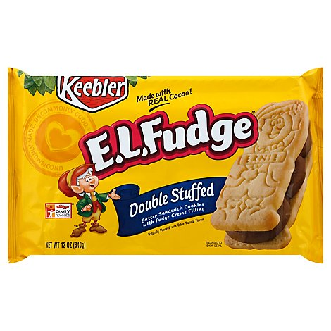 Keebler E.L. Fudge Cookies Elfwich Double Stuffed - 13.6 Oz