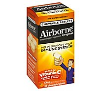 Airborne Immune Support Supplement Original Chewable Tablets Citrus - 32 Count