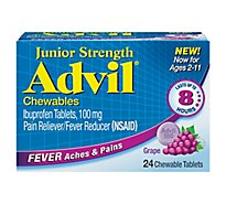 Advil Junior Strength Grape Flavored Chewables Ibuprofen Fever Reducer/Pain Reducer - 24 Count