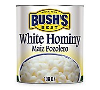 BUSHS BEST Hominy White Can - 108 Oz