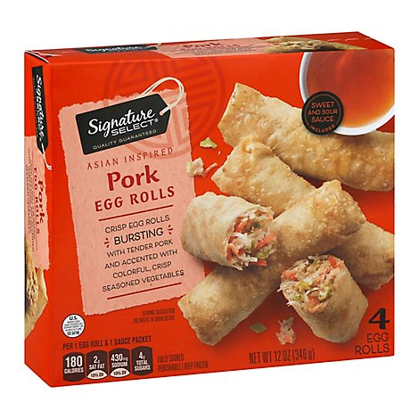 Signature SELECT Egg Rolls Pork 4 Count - 12 Oz
