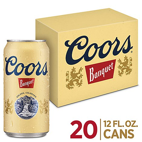 Coors Banquet Beer Lager 5% ABV In Can - 20-12 Fl. Oz.