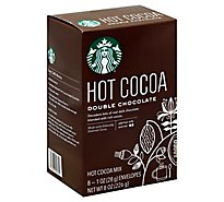 Starbucks Cocoa Mix Hot Double Chocolate - 8-1 Oz