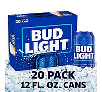 Bud Light Cans - 20-12 Fl. Oz.