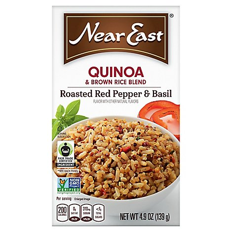Near East Quinoa Blend Roasted Red Pepper & Basil Box - 4.9 Oz
