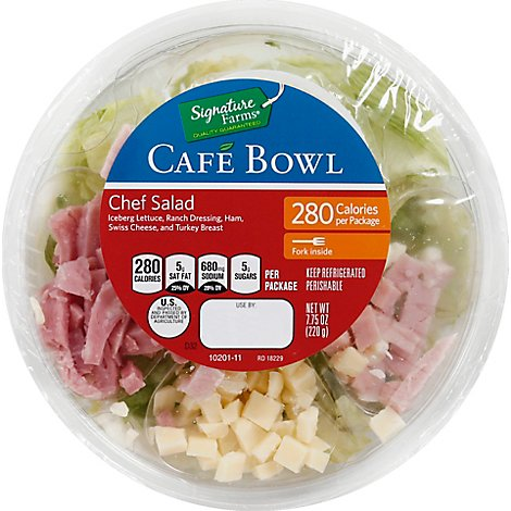 Signature Farms Cafe Bowl Chef Salad - 7.75 Oz