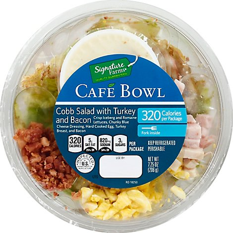 Signature Farms Cafe Bowl Turkey and Bacon Cobb Salad - 7.25 Oz