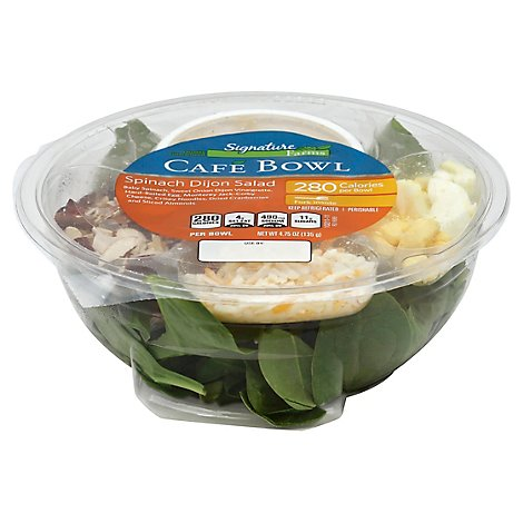 Signature Farms Cafe Bowl Spinach Dijon Salad - 4.75 Oz