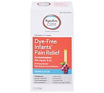 Signature Care Pain Relief Infant Acetaminophen 160mg PER 5ml Oral Suspension Grape - 2 Fl. Oz.