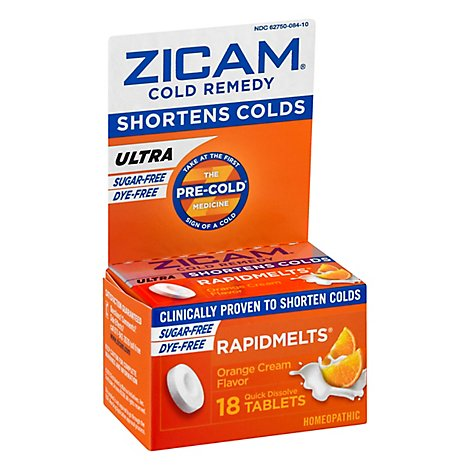 Zicam Ultra Cold Remedy Quick Dissolve Tablets Orange - 18 Count