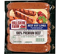Hillshire Farm Hot Beef Smoked Sausage Links 5 Count