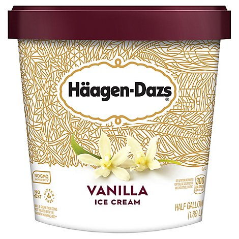 Haagen-Dazs Ice Cream Vanilla - 0.5 Gallon
