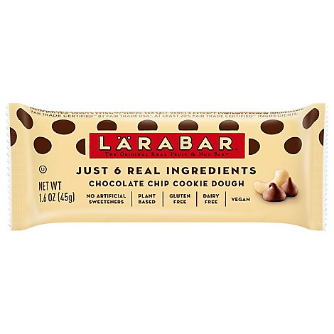 Larabar Food Bar Fruit & Nut Chocolate Chip Cookie Dough - 1.6 Oz