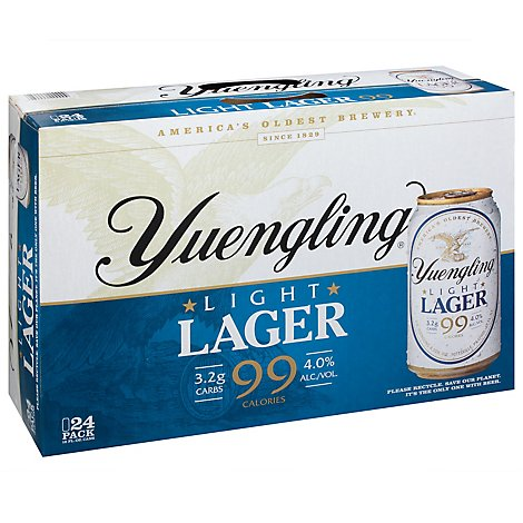Yuengling Light Lager Cans - 24-12 Fl. Oz.