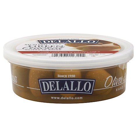 DeLallo Olives Sicilian Green Cracked Cup - 5 Oz