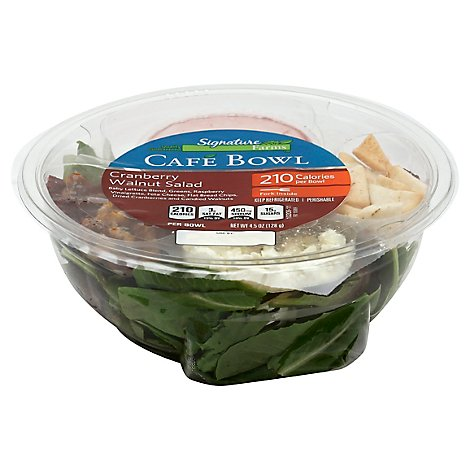 Signature Farms Cafe Cranberry Walnut Bowl Salad - 4.5 Oz