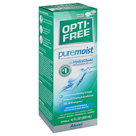 Alcon Opti-Free Pure Moist Disinfecting Solution Multi-Purpose All Day Comfort - 10 Fl. Oz.
