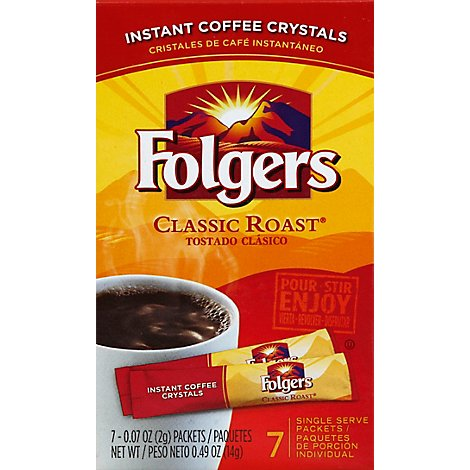 Folgers Coffee Instant Classic Roast - 7-0.07 Oz