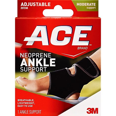 ACE Neoprene Ankle Brace One Size Fits All - Each