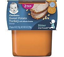 Gerber 2nd Foods Baby Food Sweet Potato & Turkey With Whole Grains - 2-4 Oz