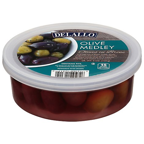 DeLallo Olive Medley Cup - 5 Oz