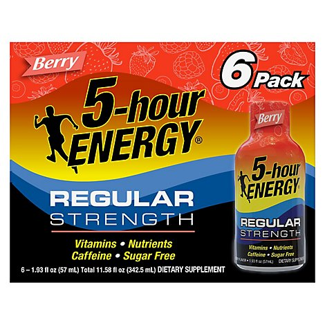 5-hour ENERGY Shot Regular Strength Berry - 6-1.93 Fl. Oz.