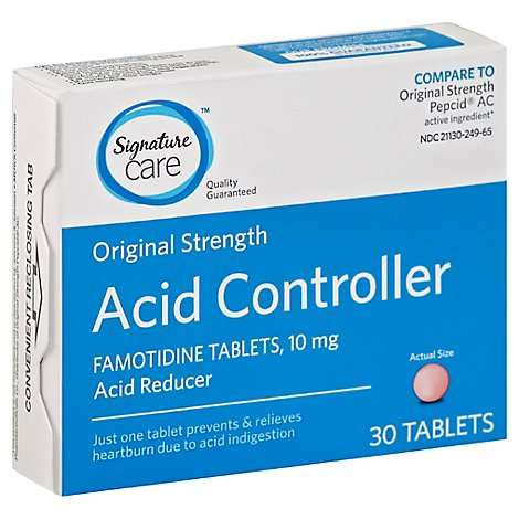 Signature Care Famotidine Acid Reducer Controller Tablets - 30 Count