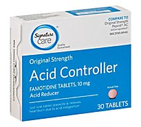 Signature Care Acid Controller Acid Reducer Famotidine 10mg Original Strength Tablet - 30 Count
