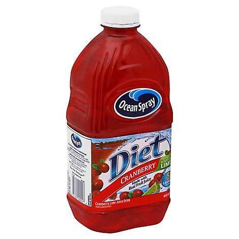 Ocean Spray Diet Juice Cranberry with a Hint of Lime - 64 Fl. Oz.