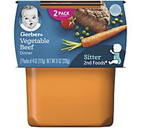Gerber 2nd Foods Baby Food Vegetables Beef - 2-4 Oz