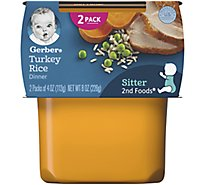 Gerber 2nd Foods Baby Food Turkey & Rice - 2-4 Oz