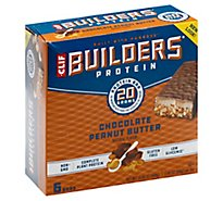 CLIF Builders Protein Bar Chocolate Peanut Butter - 6-2.4 Oz