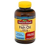 Nature Made Burp Less Fish Oil 1000 Mg - 150 Count