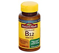 Nature Made Dietary Supplement Tablets Vitamin B-12 Timed Release 1000 mcg - 75 Count