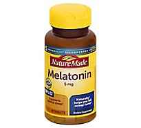 Nature Made Dietary Supplement Tablets Melatonin Maximum Strength 5 mg - 90 Count