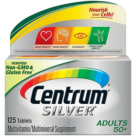Centrum Multivitamin/Multimineral Tablets Silver Adults - 125 Count