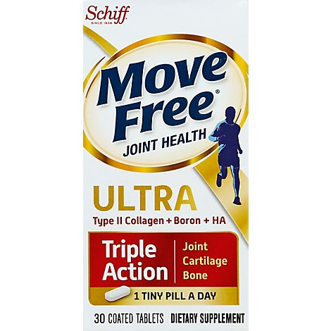 Schiff Move Free Ultra Dietary Supplement Triple Action Tablet - 30 Count