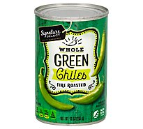 Signature SELECT Green Chiles Fire Roasted Whole Can - 10 Oz