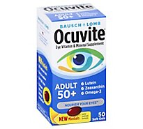 Ocuvite Eye Vitamin & Mineral Supplement Softgels Adult 50+ - 50 Count