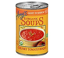 Amys Soups Organic Light in Sodium Chunky Tomato Bisque - 14.5 Oz
