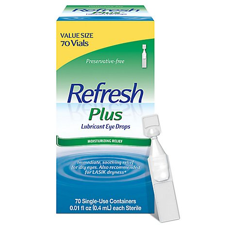 Refresh Plus Preservative Free Single Dose Eye Drops - 70 Count