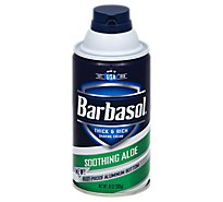 Barbasol Shaving Cream Thick & Rich Soothing Aloe - 10 Oz