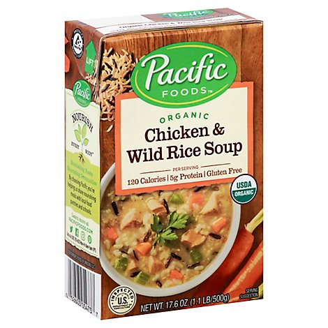Pacific Organic Soup Chicken & Wild Rice - 17.6 Oz